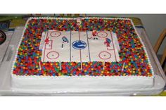 Hockey Cake..sammys bday -- anything with jelly bellies is SWEET!