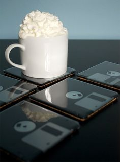 Floppy Disk Coasters: Protect Your Tabletop and Your Data - Technabob