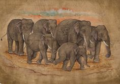 Image result for kerala elephant painting