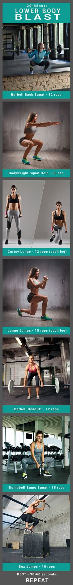 20-Minute Lower-Body Blast Workout For Butt, Hips and Thighs