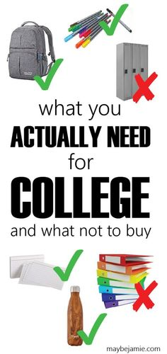 Some items in college are so helpful and necessary. Others? A waste of money. Get the lowdown on what you actually need for college, and what to save a few bucks on.