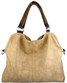 Everyday Free Style Beige Tan Soft Embossed Ostrich Double Handle Oversized Hobo Satchel Purse Handbag Tote Bag (Beige)