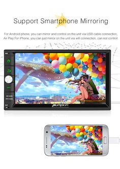 Android 9.0 Double Din Car Stereo Radio 7 Inch Touch Screen in Dash GPS Navigation Support WIFI Bluetooth MirrorLink SWC OBD with Free Backup Camera for Toyota Tundra 2007-2013 Sequoia 2008-2014
