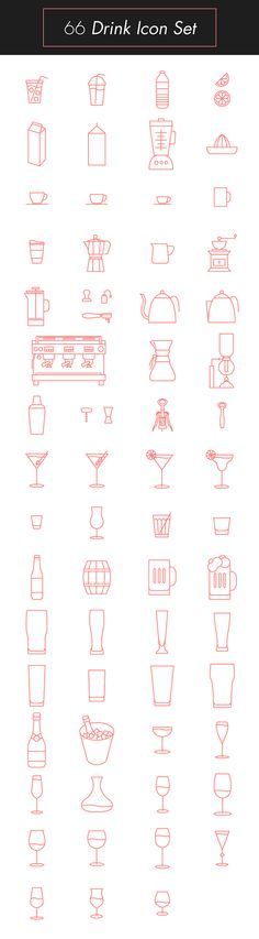 Drink Icon Set on Behance