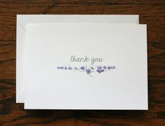 """THANK YOU STATIONERY CARDS + ENVELOPES - 5x7 or 4.25""""x5.5"""" folded cards  - 80 lb matte finish cardstock  - set of 15 cards and envelopes  - choice of"""