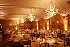 Ivory and Gold Wedding at the President with Uplighting by Blue Bouquet, via Flickr