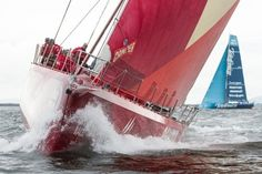falmonacidc:    CAMPER with Emirates Team New Zealand, skippered by Chris Nicholson from Australia, competing in the Discover Ireland In-Port Race, in Galway, Ireland, during the Volvo Ocean Race 2011-12.