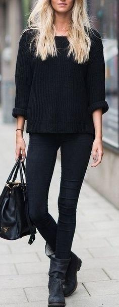 dar paçalı siyah kot