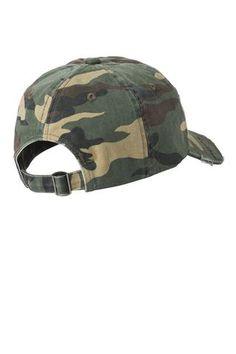 a6a57f1e579a3 Military Camo Distressed Hat