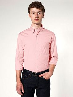 Pinpoint Oxford Long Sleeve Button-Down with Pocket
