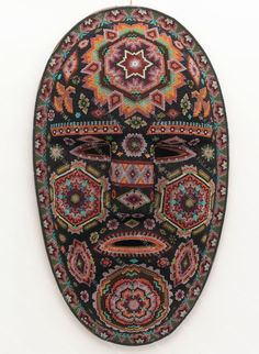 Huichol Beaded Mask - World Folk Art - Find Stained Gourds, Metal Wall Hangings, and more
