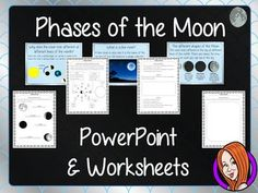 This download includes a detailed 29 slide PowerPoint explaining the phases of the moon. It covers the important parts of moon movement; The names of the different phases; how they happen; waning and waxing; a blue moon and some general moon facts.This download includes:- Complete 29 slide PowerPoint - Three versions of a the 4 page differentiated worksheets - Answer sheetThanks for looking **************************************************************************Some of my other products…