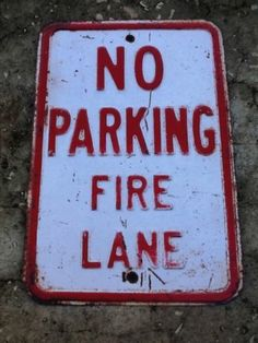 "Tin Sign ""No Parking Fire"" Metal Decor Wall Art Vintage Street Station Bar Cave 