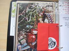 Christmas binder to keep holiday organized