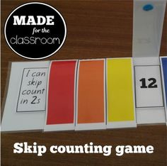 Skip Counting Strips - Practice skip counting in and Stage 4 New Zealand maths. Skip Counting Games, Math 2, Games To Play, Teaching Resources, Homeschool, Stage, Knowledge, Classroom, Education