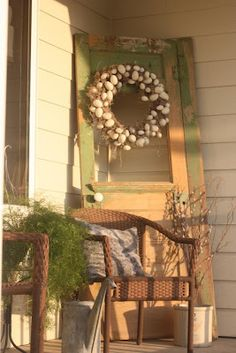 Love that door with the wreath on the front porch