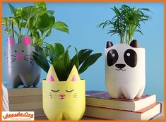 Introduction: These cute Animal Planters are made of recycled plastic bottles and some simple materials. Plastic Bottles are often thrown away and this is waste full. These animal planters a… Plastic Bottle Planter, Reuse Plastic Bottles, Plastic Bottle Crafts, Diy Bottle, Plastic Bottle Decoration, Water Bottle, Recycled Planters, Recycled Crafts, Indoor Planters