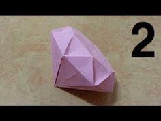 100 Origami 종이접기 (다이아몬드 1 ) Diamond 색종이접기 摺紙 折纸 оригами 折り紙 اوريغامي - YouTube