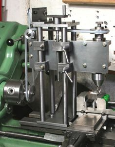 "Milling Head for the Lathe by Harold Hall -- Homemade milling head mounted on and driven by a lathe. Design features a belt-driven spindle and a drill chuck with 1/2""x20 tpi internally threaded mounting. http://www.homemadetools.net/homemade-milling-head-for-the-lathe"