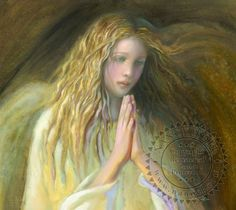 Angel With Gold Hair by Nancy Noel