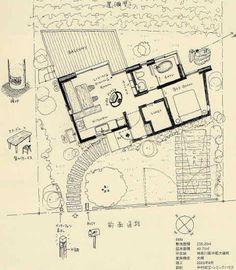 中村好文 外構 - Google 検索 Craftsman Floor Plans, House Floor Plans, Micro House, Tiny House, Floor Plan Sketch, Tokyo, Architecture Plan, My Dream Home, Building A House