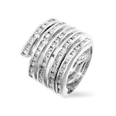 Snake Coiled Cubic Zirconia Ring
