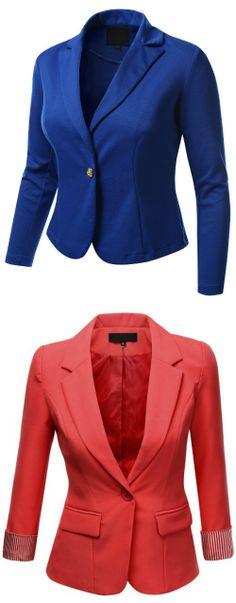 J.TOMSON PLUS Womens Boyfriend Blazer Plus Size  #BoyfriendBlazer #SummerTrends #SummerBlazers