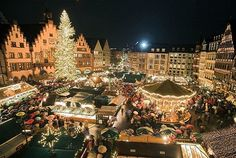 Christmas market; Frankfurt, Germany