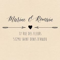 Tampon mariage vintage - Nature Chic -