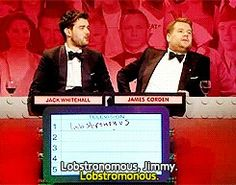Big fat quiz of the year, James Corden and Jack Whitehall, Lobstronomous