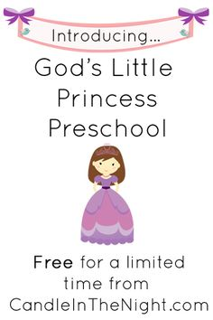 God's Little Princess Preschool is an exciting series of preschool lessons for your little one!  Sign up today and get the lessons for FREE!  | candleinthenight.com