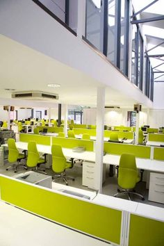 Mezzanines, office screens, modern desking... we can make this office layout your reality.
