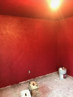 Red walls! Color is called Stolen Kiss!!