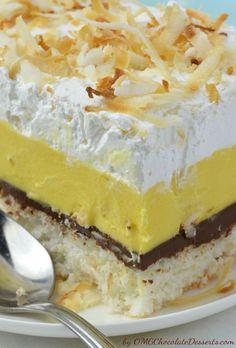 Dreamy Creamy Coconut Bars - OMG Chocolate Desserts
