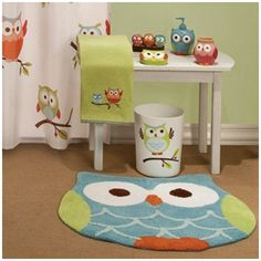 3 Owl Bath Collection 15 00 I Want This In My Bathroom D No One Understands Love For Owls Pinterest Kid Bathrooms