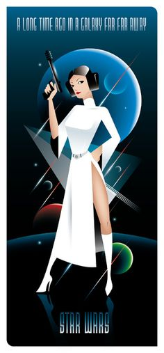 Princess Leia. Retro Pinup art. Cool stuff. #StarWars @FromBactaTank
