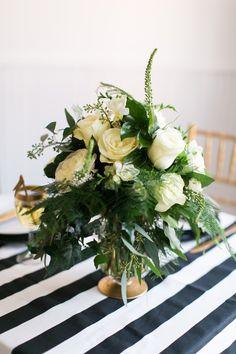 #stripes, #centerpiece  Photography: Elisabeth Carol Photography - www.elisabethcarol.com  Read More: http://www.stylemepretty.com/2013/12/30/new-years-eve-wedding-shoot/