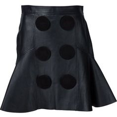 Givenchy leather a-line skirt