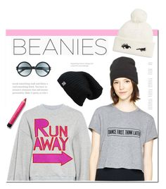 """""""Beanie"""" by hellodollface ❤ liked on Polyvore featuring Karen Walker, Bobbi Brown Cosmetics, Tom Ford, Kate Spade and beanies"""