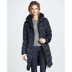women's puffer coats | coats moncler coats women s moncler vos three quarter puffer coat ...
