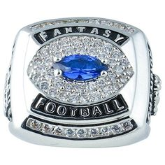 Fantasy Football Championship Trophy Ring Rhodium Plate & CZ Size 11 by Select Jewelry Displays -- Awesome products selected by Anna Churchill