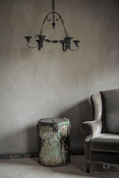 Fresco kalkverf in de kleur Earth Stone, toegepast in de woonkamer