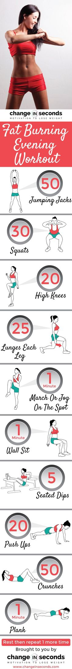 Fat Burning Evening Workout #motivation