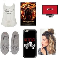 movie night by cydn on Polyvore featuring polyvore fashion style Wildfox Banjo & Matilda Casetify
