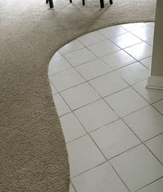 New Carpet With Tile Border Saw This Long Time Ago In House With - Curved tile border