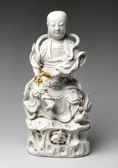 Zhenwu, Daoist Lord of the Northern Palace  Qing dynasty (1644–1911)   Kangxi period (1662–1722)  Date: early 18th century  Culture: China  Medium: Porcelain with ivory glaze (Fujian Province; Dehua ware)