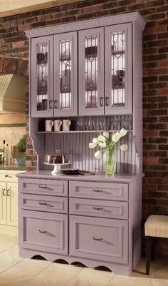 Muted purple painted hutch!!!!!