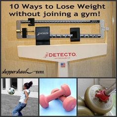 10 Ways To Lose Weight Without Joining a Gym!
