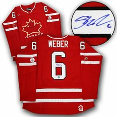 SHEA WEBER Team Canada SIGNED 2010 Olympic JERSEY . $379.05. This is an official licensed SIGNED Shea Weber Olympic Team Canada jersey. The jersey is brand new with all of the lettering and numbering professionally sewn on. The player has beautifully signed the number. To protect your investment, a Certificate Of Authenticity and tamper evident hologram from A.J. Sports World is included with your purchase.