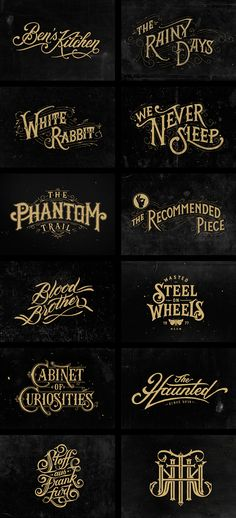 Hand Lettering III by Tobias Saul | on Typography Served